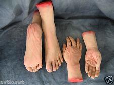 Impressive BODY PARTS HANDS + FEET Effect Horror Deco Halloween Latex Rubber Gum