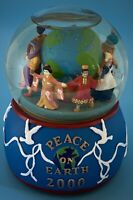 Vintage 2000 Peace On Earth Musical Snow Globe by Mr Christmas in Box