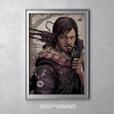THE OUTLAW - Daryl Dixon art from The Walking Dead - Original Art Poster