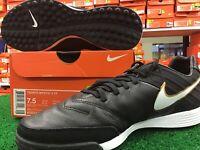 New Nike Tiempo Mystic V TF Soccer Cleats Black / Gold / White Size 7.5