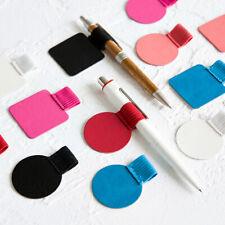 3X PU Leather Pen Holder Clip Self-adhesive Pencil Elastic Loop Notebook Journal