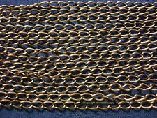 6' Antique bronze plated bulk twist cable link 5.5x3mm necklace extenders ch097