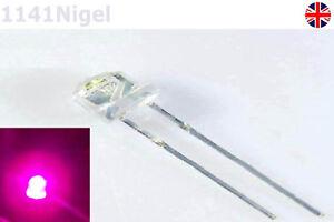 3.2-3.8V F5 5mm Pink Straw Hat Superbright LED Light LED lamp   (Pack of 5-10)