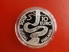 Finnland 10 Euro Silber PP 2002 * Elias Lönnrot  (Schub72)