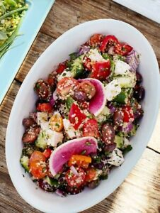 Pottery Barn Large Serving Salad Bowl Melamine Outdoor *NEW* Retails @ $25