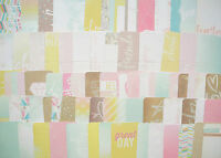 Dreamy Edition Becky Higgins 50 x Project Life Cards Set 4x6 & 3x4 Heidi Swapp