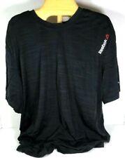 Reebok Mens Black Nylon /Spandex T-Shirt – Large