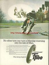 Dunlop TT100 Tyres Motorcycle 1978 Magazine Advert #1039
