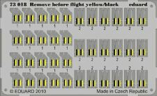 EDUARD 1/72 AIRCRAFT- REMOVE BEFORE FLIGHT YELLOW/BLACK (PAINTED) | 73018