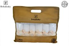 Bamboo Baby Washcloths Large 10x10 in by Bebobaby - Natural Organic Soft Cotton