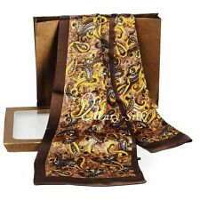 Fashion  Mens 100% Silk Long Scarf/Cravat Double Layer_For Spring Autumn Winter