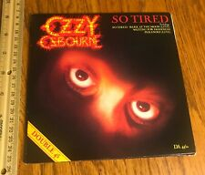 Ozzy Osbourne/ 7 inch vinyl/ So Tired/ Double 45 Set/ 1984/ Gatefold/ Bark Moon