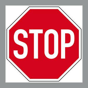 Aufkleber 10cm Sticker STOP Schild Hinweis Warnung Halt Achtung 4061963009659