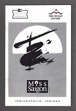 "Steven Pasquale ""MISS SAIGON"" Boublil and Schönberg 1997 Indianapolis Playbill"