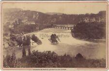 Chute du Rhin Château de Laufen Suisse Photo A. Garcin Genève Vintage albumine