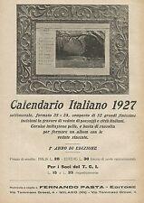 Y0676 Calendario Italiano - Pubblicità 1927 - Advertising