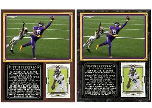 Justin Jefferson #18 Minnesota Vikings Photo Card Plaque