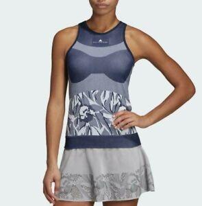 Adidas by Stella McCartney Court Seamless Indigo Blue Tank Top, Size L NWT $75