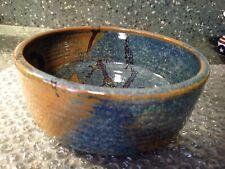 Vintage Studio Art Pottery Bowl great Glaze Technique  Stoneware  Signed