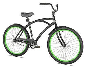 "Kent 26"" La Jolla Cruiser Men's Bike, Black/Green Free fast shipping new"