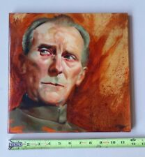"Gene Guynn Grand Moff Tarkin Star Wars 2008 Oil/Carbon on Wood 11 3/4"" Sq"