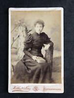 Victorian Photo: Cabinet Card: Lady: Studio Tree Trunk: Hellis & Son London