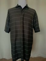Nike Golf Mens Sz XXL Black Dri-Fit Short Sleeve Polo Shirt