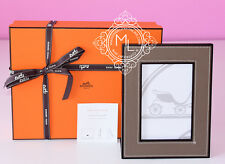 NEW HERMES CLASSIC 30%OFF PLEIADE ETOUPE LEATHER PHOTO PICTURE FRAME HOME AVALON