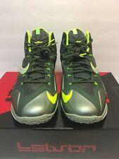 Nike Lebron 11 Men's Size 9 Mica Green Sea Spray Dark Volt Basketball Shoes