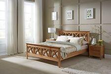 Solid Wooden Bed Frame Oak Double King Super King Shaker Scandinavian Astrid