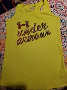 Under Armour Heat Gear YOUTH Size XL Athletic Tank Top Logo