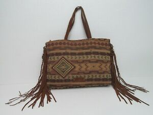 Lucky Brand Multicolor Southwestern Toe Bag Purse Handbag