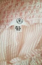 Missguided Nordstrom Pink Stripe Top Bow worn 1x