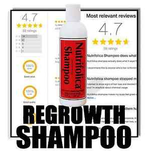 HAIR REGROWTH SHAMPOO BALDING THIN SCALP GROWTH DHT LOSS ALOPECIA NUTRIFOLICA