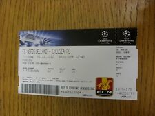 02/10/2012 Ticket: Nordsjaelland v Chelsea [Champions League] . Thanks for viewi