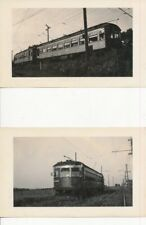 1940 Canadian National Railways Trolleys 2 Photos, wood cars combine  & # 62