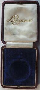 Longines pocket watch presentation box 92 mm. x 108 mm. aside
