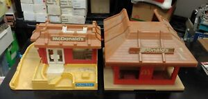 Vintage 1974 Playskool Familiar Places McDonalds Fisher Price People Playset Lot