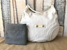 Authentic ALEXANDER MCQUEEN Faithful Hobo Shoulder Bag Skull Leather White Sale