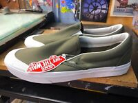 Vans Classic Slip-On 1 Canvas Grape Leaf White Size US 11.5 Men's VN0A3TKBMHN