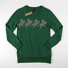 NWT J Crew Merino Tippi sweater in zebra print Size S Meadow $89.50 HO16 F8555