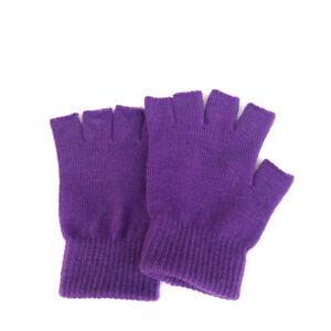 1 Pair Soft Half Fingerless Gloves Women Men Warm Knitted Mittens Couple Win HJ
