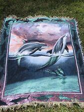 Vintage 90s Dolphin Blanket
