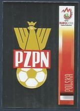 PANINI EURO 2008- #233-POLSKA-POLAND TEAM BADGE-SILVER FOIL