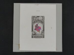 Nystamps Colombia Large Die Proof Rare a10ya