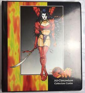 1995 SHI ALL CHROMIUM CARD 90 SET COMIC IMAGES WILLIAM TUCCI & ALBUM