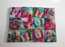 Ceramic Mosaic Tiles - 12 Piece Mixed Set - Mixed Butterfly Designs Mosaic Tiles