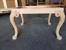 CARVING RAW WOOD BENCH FRAME