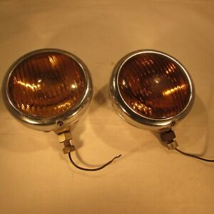 Vintage KD #892 Fog Lamps Pair  Ready for your Rat Rod