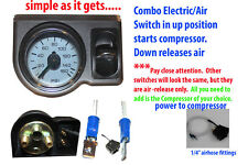 AirRide Suspension Air Gauge Paddle Electric Switch up=compressor on down=airout